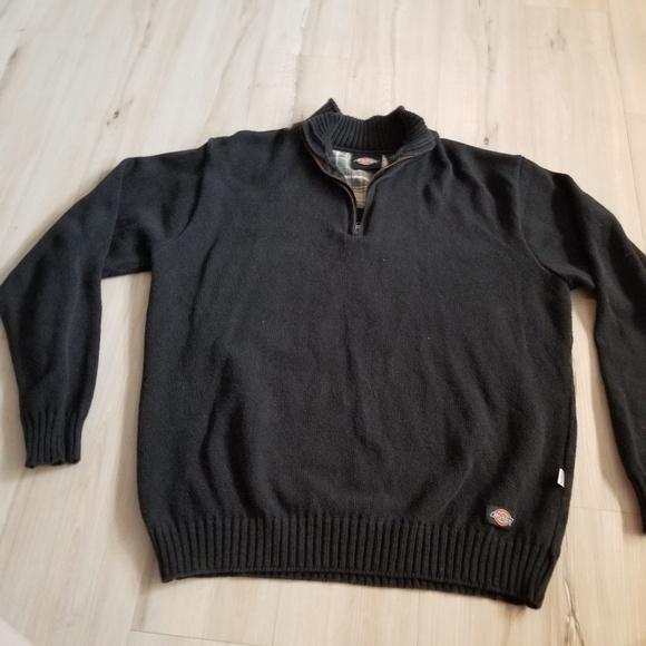 1e23d2c0 Dickies Sweaters | Zip Sweater Sweatshirt Men L Large Black P | Poshmark